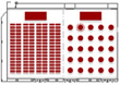 1/2室 (スクール360席(左) 300席(右)の例)