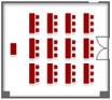 全室 (着席スクール36席の例)