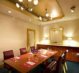 ANAクラウンプラザホテル京都 カフェレストラン コージー 個室 メープルルーム