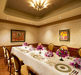 ANAクラウンプラザホテル京都 レストラン フランス料理 ローズルーム 個室 オーキッド