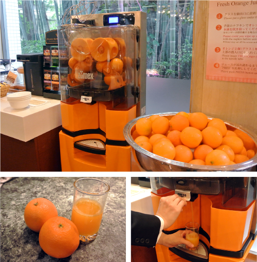 「フレッシュオレンジジュース」