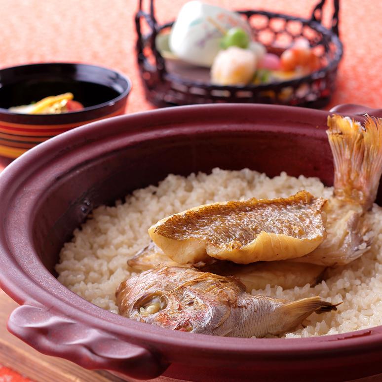 桜鯛土鍋御飯と春の味覚会席「舞」