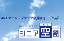 当日空席があれば、日本全国どこへ飛んでも一律。「シニア空割」登場!
